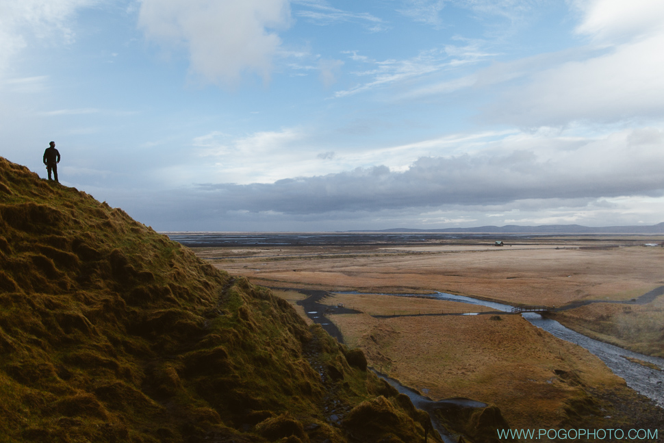 Overlooking Iceland from Selanjafoss waterfall