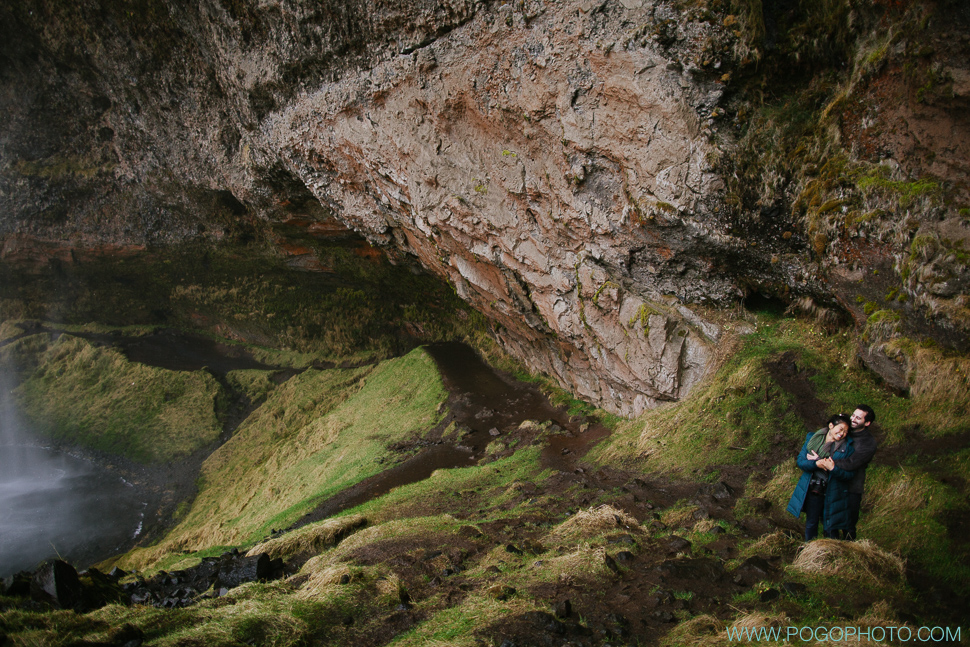 Wide angle landscape portraits at Selanjafoss in Iceland