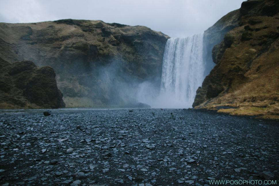 Skogafoss waterfall in southwest Iceland