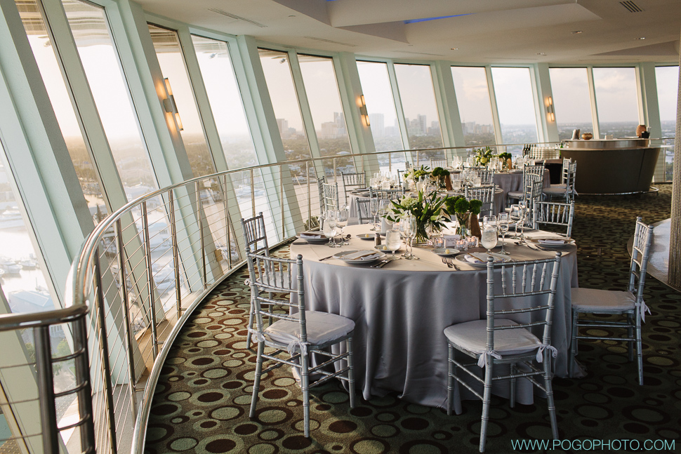Hyatt Pier 66 wedding reception (image by Pogo Photo)